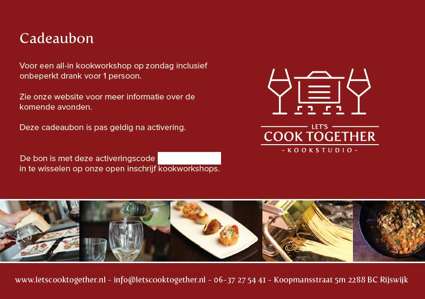 let's cook together cadeaubon